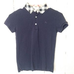 Burberry Boys Youth Blue Polo Shirt 10Y
